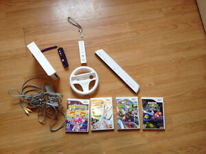 Wii Console and Accessories (Including Super Mario Galaxy game)