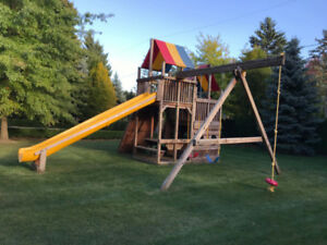 Well Kept Rainbow Playground / Swings / Jungle Gym for Kids