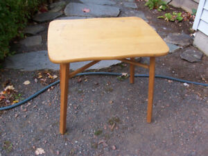 Vintage Child's Wooden Table 25 by 20 and 22 Inches Tall