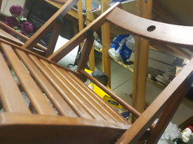 Wooden folding chairs x 2