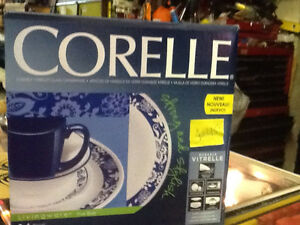 BRAND NEW! CORELLE 16 piece set dishes, cups, bowls $45