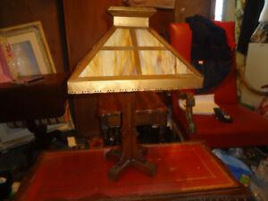 MISSION ARTS & CRAFTS SLAG LAMP