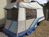 Combo-camp trailer tent plus awning