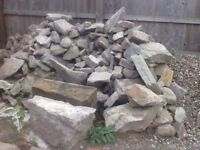 LARGE PILE OF TRADITIONAL BUILDING STONE