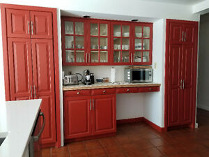 Armoires de cuisine en bois / Kitchen cabinets, wood
