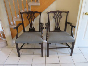 Chippendale Arm Chairs