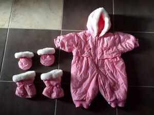 Extra warm baby winter outfit