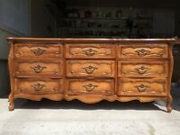Real Cherry Wood Vintage Bedroom set