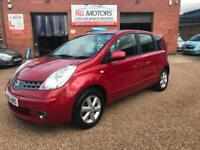 2008 Nissan Note 1.4 16v Acenta Red 5dr Hatch, **ANY PX WELCOME**