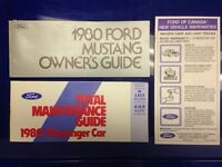 ORIGINAL 1980 FORD MUSTANG OWNER'S GUIDE