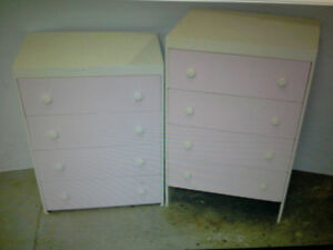 4    4 drawer dressers solid wood $40. each