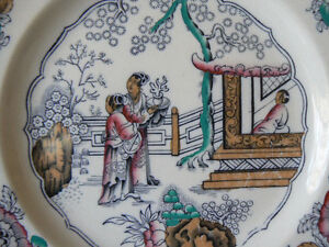 Staffordshire polychrome plate West Island Greater Montréal image 2