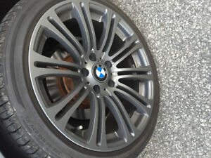 "Bmw 18"" 18x9.5 all around replica m3 wheels with brand new tires"
