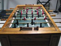Solid wood foosball table - excellent condition