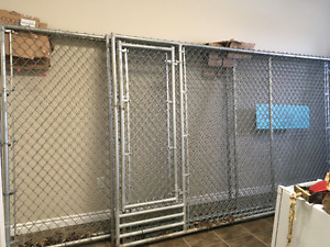 Dog chain link fence panels plus more