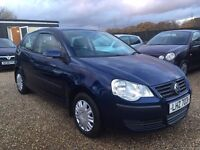 VW POLO 1.2 E 2009 3DR IDEAL FIRST CAR CHEAP INSURANCE LOW MILEAGE EXCELLENT CONDTION FULL SERVICE