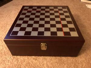 Vintage Wine Chess Set.