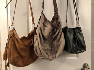 Three 'Danier Leather' Purses - Real Leather