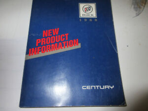 1988 BUICK CENTURY NEW PRODUCT INFORMATION