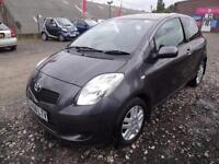 TOYOTA YARIS 1.3 VVTi TR~08/2008~MANUAL~3 DOOR HATCHBACK~STUNNING METALLIC GREY