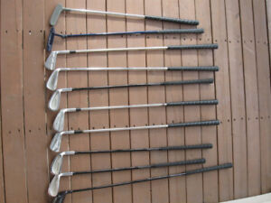 Lot of 10 Right Hand Swing Small/Junior size golf clubs