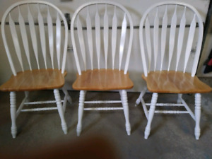3 Wooden chairs