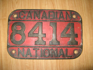 CNR Brass Steam Number Plate #8414
