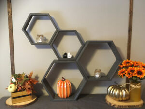 Custom Geometric Floating Shelf