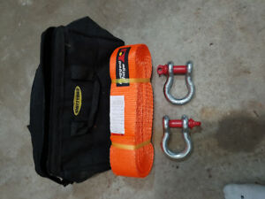 Off road kit. Tow strap, D-rings and Bag