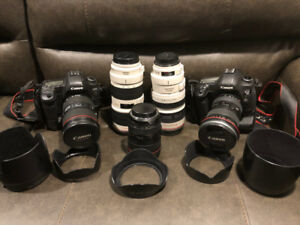 6 Pro Canon DSLR lenses plus 5D Mark II and Mark III bodies+++