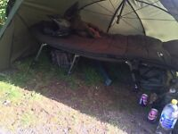 Bed chair and sleeping bag