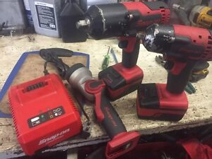 Snap on 18v cordless impacts and light