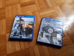 ps4 games, NHL 17 and battlefield 4