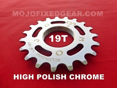MOJO 16T FIXED GEAR COG GOLD ANODIZED Cro-Mo TRACK 16 TOOTH 1//8 INCH CNC