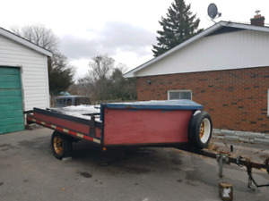 Trailer with Sled Deck