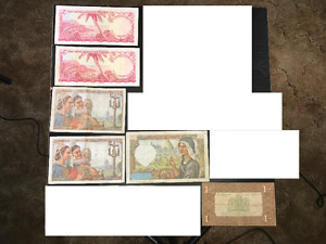 Old Foreign Paper Money Many from 1920's 1930's and 1940's