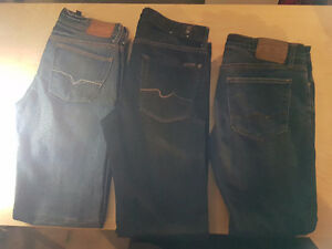 Guess, number 7 and American Eagle jeans
