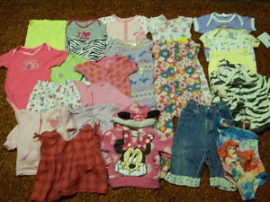 12-18, 9-12, 12 MTH BABY GIRL CLOTHES GOOD CONDITION 22 PIECES