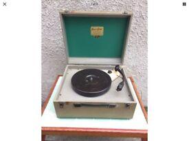 Plus-a-Gram Portable Record Player Garrard 33/45/78 Speed Changer 1950's