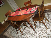 Solid Wood Table and chair set