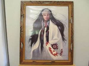 Signed Native Print