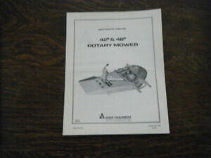 "Allis Chalmers 42"" & 48"" Rotary Mower july 1972 Operators Manual"
