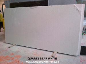 Comptoir Quartz Star White 3cm Chez Quebec Cuisines Montreal
