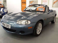 2005 54 reg MAZDA MX5 1.8cc ARCTIC - ONLY 69,000 MILES - HEATED LEATHER SEATS