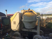 FOR RENT - HAND FED TILTING DRUM MIXER | DIESEL ENGINE