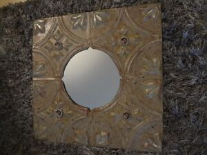 Mirror made from vintage tin ceiling