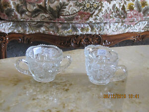 Antique Cream & Sugar - Hob Star - Crystal