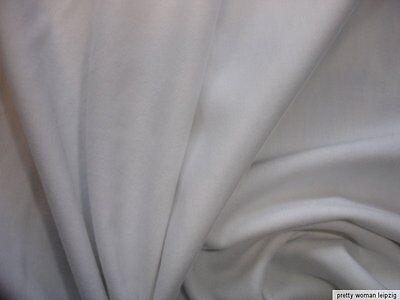 0,69 Lfm  Bündchenstoff 6,50€/m² BW Lycra Schlauchstoff weiß PC38