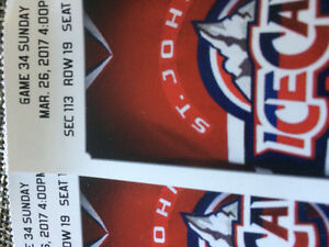2 ice cap tickets for march 26