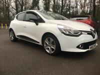 RENAULT CLIO 1.2 16v ( 75bhp ) MediaNav 2013MY Dynamique WHITE only 33,296miles